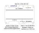 Daily Bodenplatte mit 2 Zurrschienen längs - L1 kurz T101