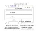 Daily Bodenplatte mit 3 Zurrschienen längs - L1 kurz T301