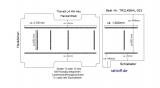 Transit Boden mit 9 Ladungssicherungs- Schienen längs + quer - L4 - T203