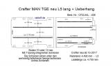 MAN TGE - Crafter Boden mit 7 Ladungssicherungs- Schienen L5 - 406