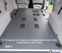 T5 - T6 Caravelle Boden mit Löchern für die Sitz - Aufnahmen - L1 kurz
