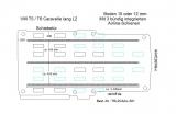 T5 - T6 Caravelle Boden mit 3 Zurrschienen längs - L2 lang T301