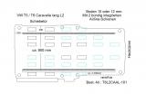 T5 - T6 Caravelle Boden mit 2 Zurrschienen längs - L2 lang T101