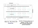 T5 - T6 Caravelle Boden mit 3 Zurrleisten längs - L1 kurz T301