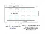T5 - T6 Caravelle Boden mit 2 Zurrleisten längs - L1 kurz T101