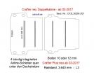MAN TGE - Crafter Plus - Doppelkabine - Bodenplatte mit 4 Zurrschienen quer - L3 - 201