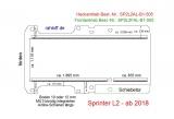 Sprinter neu Boden mit 2 Reihen Zurrschienen längs - L2 - T505 einteilig