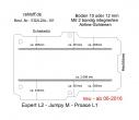 Peugeot Expert L2 Boden mit 2 Ladungssicherungs-Schienen L2 neu T101