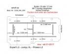 Peugeot Expert L3, Boden mit 5 Ladungssicherungs-Schienen L3 neu T204