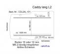 Caddy Boden mit 2 Zurrschienen längs  - L2 lang T101