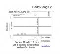 Caddy Boden mit 3 Zurrleisten längs  - L2 lang T301
