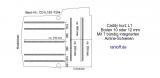 Caddy Bodenplatte mit 7 Zurrleisten längs + quer - L1 kurz T204