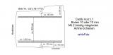 Caddy Bodenplatte mit 2 Zurrleisten längs - L1 kurz T101