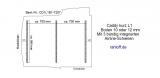 Caddy Bodenplatte mit 3 Zurrleisten  quer - L1 kurz T207