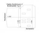 Caddy Kombi Boden aus Sperrholz mit Sieddruck-Beschichtung - L1 kurz Typ 2