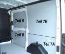 Transit Laderaumverkleidung Seite rechts hinten unten Teil 7A