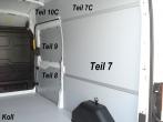 Transit Laderaumverkleidung Seite hinten rechts ganz oben Teil 7C