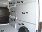 Transit Laderaumverkleidung Schiebetür Fensterfeld Teil 9