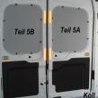 Transit Laderaumverkleidung Tür hinten links Fensterfeld Teil 5A