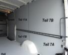 Sprinter/Crafter Laderaumverkleidung Seite hinten rechts unten Teil 7A