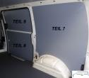 T4 L1 - Seitenverkleidung Schiebetür Fensterfeld - T9