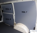 T4 L1 Seitenverkleidung Schiebetür Fensterfeld T9