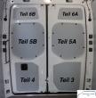 Sprinter neu Laderaumverkleidung Tür hinten links unten Teil 3 (Frontantrieb)
