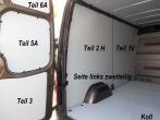 Sprinter/Crafter Laderaumverkleidung Seite hinten links Teil 2