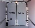 Sprinter/Crafter Laderaumverkleidung Tür hinten rechts vollflächig Teil 15B