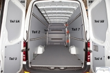 **Sprinter/Crafter Laderaumverkleidung Tür hinten links Fensterfeld Teil 5A