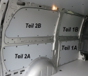 Vito lang L2 Laderaumverkleidung Seite links vorne oben Teil 1B
