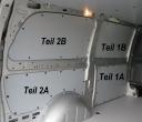 Vito kurz L1 Laderaumverkleidung Seite links hinten oben Teil 2B