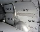 Vito kurz L1 Laderaumverkleidung Seite hinten rechts unten Teil 7A
