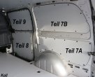 Vito kurz L1 Laderaumverkleidung Seite hinten rechts oben Teil 7B