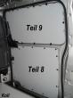 Vito kurz L1 Laderaumverkleidung Schiebetür unten Teil 8