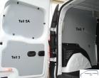 Citan Kangoo L1 Seitenverkleidung Tür hinten links Fensterfeld T5A