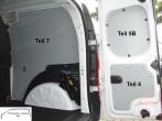 Citan Kangoo L1 Seitenverkleidung Tür hinten rechts Fensterfeld T5B