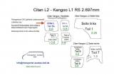 Citan L2 - Kangoo L1 Seitenverkleidung Tür hinten links Fensterfeld T5A