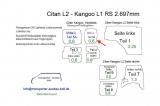 Citan L2 - Kangoo L1 Seitenverkleidung Tür hinten rechts Fensterfeld T5B