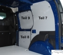 Citan L2 - Kangoo L1 Seitenverkleidung Schiebetür Fensterfeld T9