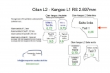 Citan L2 Kangoo L1 Seitenverkleidung Seite links T1