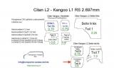 Citan L2 Kangoo L1 Seitenverkleidung Schiebetür unten T8