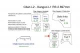 Citan L2 Kangoo L1 Seitenverkleidung Schiebetür Fensterfeld T9