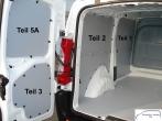 Expert Jumpy ProAce Laderaumverkleidung Alu Tür hinten links Fensterfeld Teil 5A