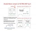 Ducato Boxer Jumper Laderaumverkleidung Hecktür links vollflächig Teil 15A - Typ 3