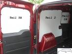 Doblo Combo L2 Seitenverkleidung Tür hinten links Fensterfeld T5A