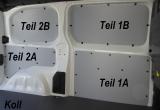 Expert L2 Jumpy M Proace L1 Laderaumverkleidung Alu Seite hinten links unten Teil 2A