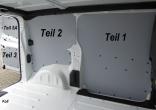 Expert L2 Jumpy M Proace L1 Laderaumverkleidung Alu Seite vorne links Teil 1