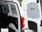 Berlingo Partner L1 Seitenverkleidung Tür hinten rechts Fensterfeld T5B