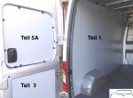 Maxus EV 80 L2 Seitenverkleidung Tür hinten links Fensterfeld T5A